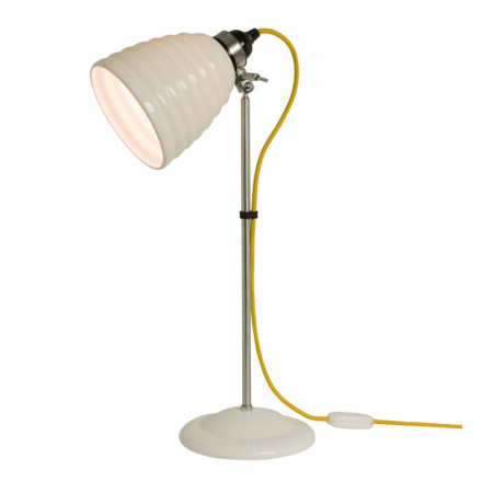 Original BTC Hector Bibendum Lampa stołowa 57x13 cm IP20 E27 GLS, biała, żółta FT491WY
