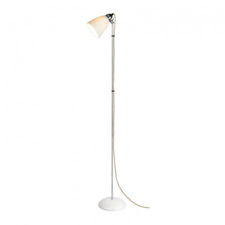 Original BTC Hector Medium Dome Lampa stojąca 137x27 cm IP20 E27 GLS, biała FF086N