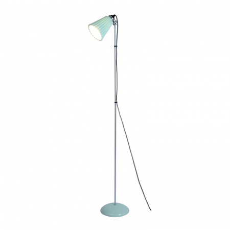 Original BTC Hector Pleat Medium Lampa stojąca 137x27 cm IP20 E27 GLS, jasnozielona FF388GL