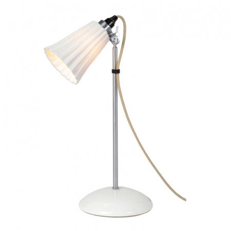 Original BTC Hector Pleat Small Lampa stołowa 47x9 cm IP20 E14 R50, biała FT021N