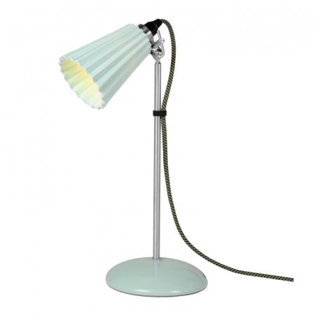 Original BTC Hector Pleat Small Lampa stołowa 47x9 cm IP20 E14 R50, jasnozielona FT021GL