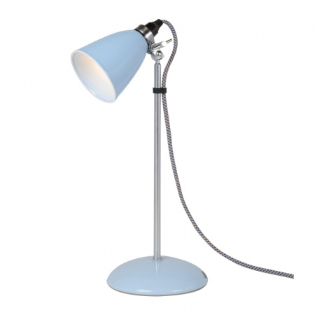 Original BTC Hector Small Dome Lampa stołowa 45,5x9 cm IP20 E14 R50, jasnoniebieska FT018BL