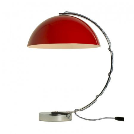 Original BTC London Lampa stołowa 45x31 cm IP20 E27 GLS, czerwona, biała, niebieska FT462J