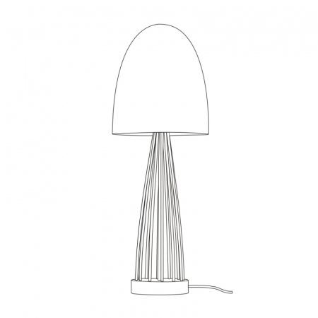 Original BTC Stanley Lampa stołowa 68,5x23 cm IP20 E27 GLS, mosiężna FT503BR