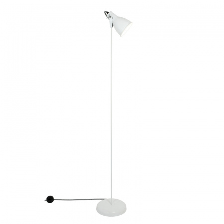 Original BTC Stirrup 1 Lampa stojąca 138x26,5 cm IP20 E27 GLS, biała FF523W