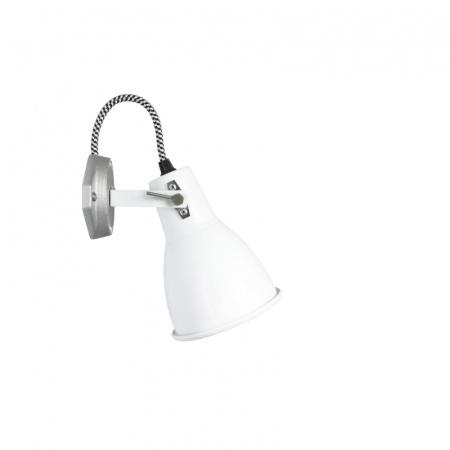 Original BTC Stirrup 1 Single Kinkiet 17x11 cm IP20 E27 GLS, biały FW179W