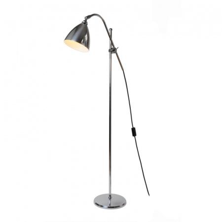 Original BTC Task Lampa stojąca 175x68 cm IP20 E27 GLS, aluminiowa polerowana FF379LP