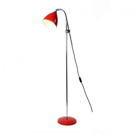 Original BTC Task Lampa stojąca 175x68 cm IP20 E27 GLS, czerwona FF379R
