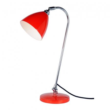 Original BTC Task Lampa stołowa 60,5x16 cm IP20 E27 GLS, czerwona FT427R
