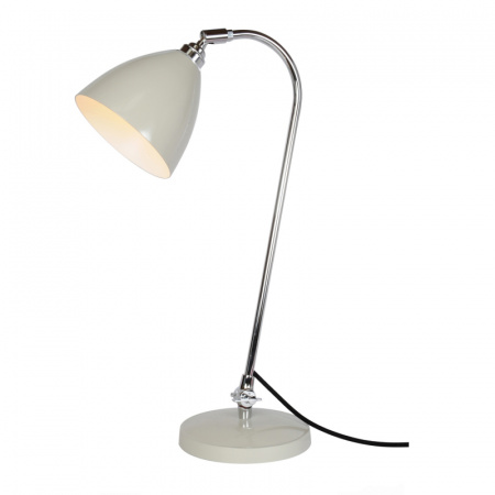Original BTC Task Lampa stołowa 60,5x16 cm IP20 E27 GLS, szara FT427GR