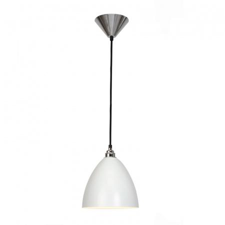 Original BTC Task Lampa wisząca 24x21 cm IP20 E27 GLS, biała FP389W