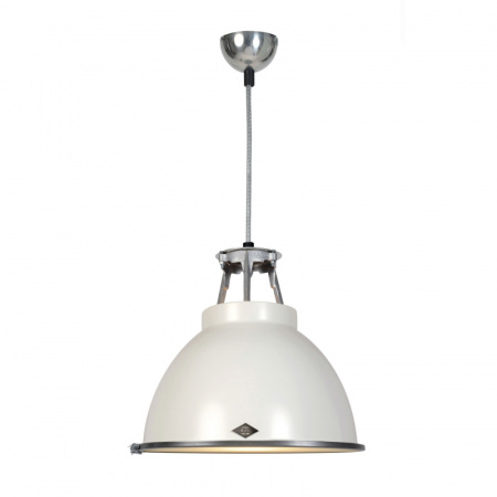Original BTC Titan Size 1 Lampa wisząca 36x36 cm IP20 E27 GLS, biała FP005W/GL01E