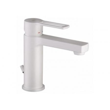 Paffoni Ringo Jednouchwytowa bateria umywalkowa stojąca z korkiem automatycznym, biały mat RIN073BO