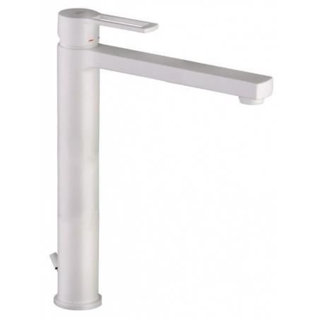 Paffoni Ringo Jednouchwytowa bateria umywalkowa wysoka stojąca, biały mat RIN085BO