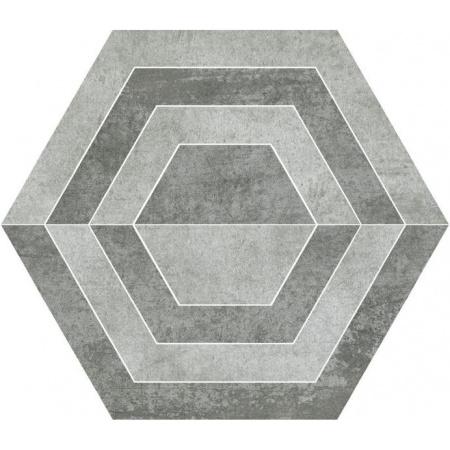 Paradyż Scratch Grys Heksagon A Płytka podłogowa 26x29,8 cm gres szkliwiony, szara PSBHAPP26X30GSSZ
