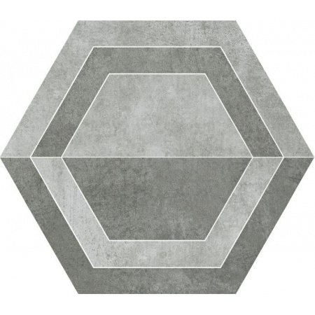 Paradyż Scratch Grys Heksagon B Płytka podłogowa 26x29,8 cm gres szkliwiony, szara PSBHBPP26X30GSSZ