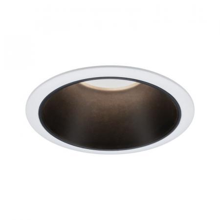 Paulmann Cole Coin Oprawa oświetleniowa wbudowana biały/czarny mat 93401