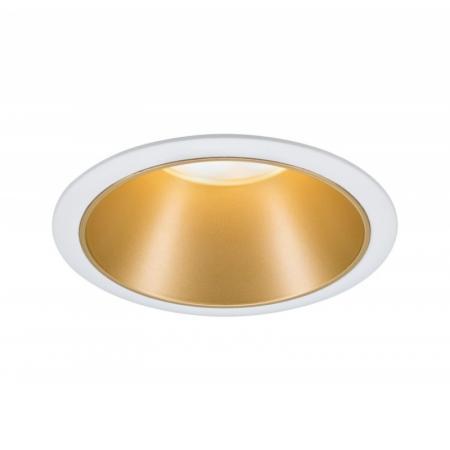 Paulmann Cole Coin Oprawa oświetleniowa wbudowana biały/złoty mat 93405