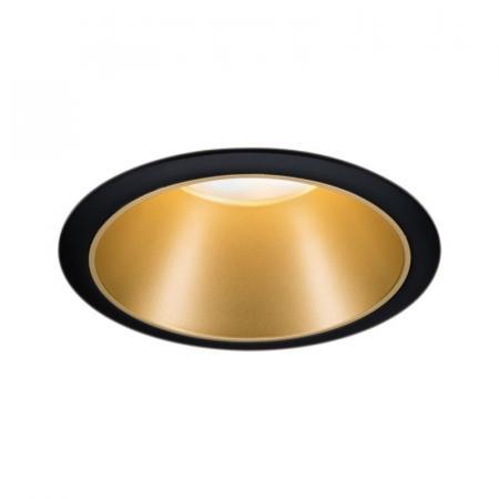 Paulmann Cole Coin Oprawa oświetleniowa wbudowana czarny/złoty mat 93403