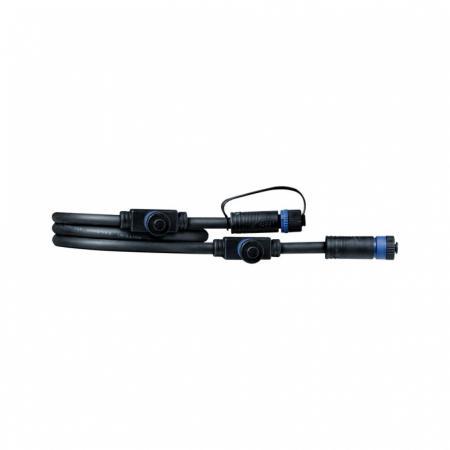 Paulmann Outdoor Plug and Shine Przewód łączący 100 cm 1in-3out czarny 93994