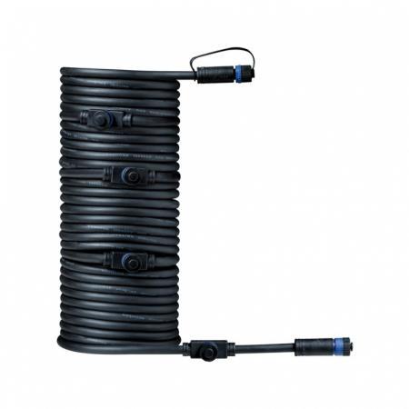 Paulmann Outdoor Plug and Shine Przewód łączący 1000 cm 1in-5out czarny 93930