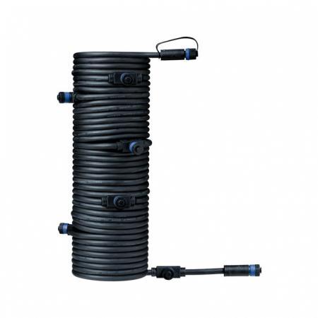 Paulmann Outdoor Plug and Shine Przewód łączący 1500 cm 1in-7out czarny 93931