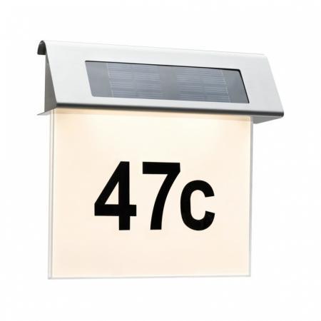 Paulmann Solar Podświetlenie numeru domu LED stal szlachetna 93765