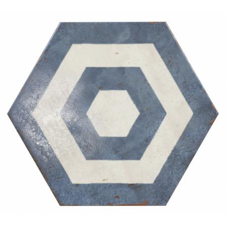 Peronda Argila Andaman Decor Gres Dekor podłogowy 25,8x29 cm, biały/niebieski 19437