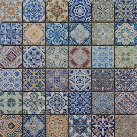 Peronda Atelier Joy Mozaika ścienna 30x30 cm, niebieska 20047