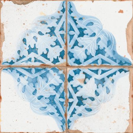 Peronda FS Artistan Decor-A Płytka podłogowa 33x33 cm, niebieska 18151