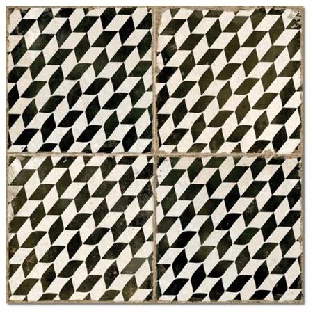 Peronda FS Damera FS Espiga Płytka podłogowa 45x45 cm, biała/czarna 15816