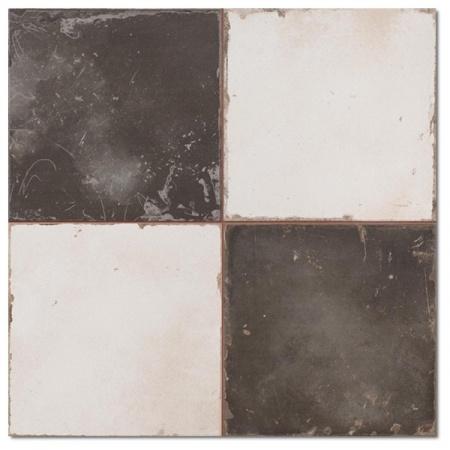 Peronda FS Damero Płytka podłogowa 45x45 cm, biała/czarna 15077