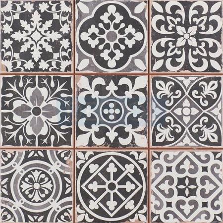 Peronda FS Faenza N Płytka podłogowa 33x33 cm, czarna 13619