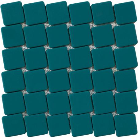 Peronda Nuc by Mut Turquoise Mozaika ścienna 28x28 cm, turkusowa 20129