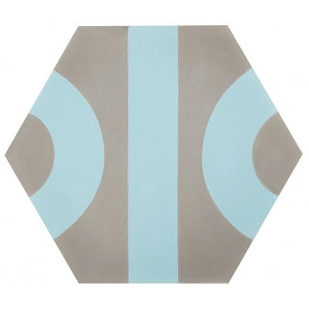 Peronda Roll by Dsignio Grey-Blue Płytka ścienna 28,5x24,7 cm, szara/niebieska 19318