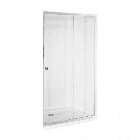 PMD Besco Duo Slide Drzwi prysznicowe przesuwne 110x195 cm, profile chrom szkło przezroczyste DDS-110