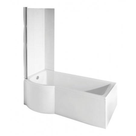 PMD Besco Inspiro Kabino-wanna asymetryczna 170x70 cm akrylowa lewa z parawanem 1-częściowym, biała WAI-170-NLE