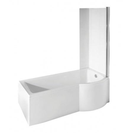 PMD Besco Inspiro Kabino-wanna asymetryczna 170x70 cm akrylowa prawa z parawanem 1-częściowym, biała WAI-170-NPR