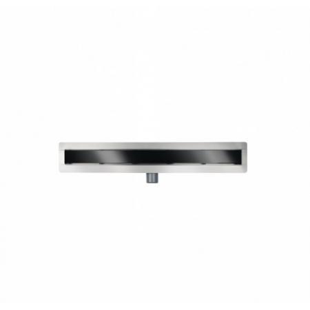 PMD Besco Virgo Black Odpływ liniowy 70 cm czarne szkło hartowane OL-70-VBL