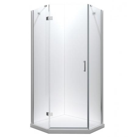 PMD Besco Viva Kabina prysznicowa pięciokątna 90x90x195 cm drzwi uchylne lewa, profile chrom szkło przezroczyste V5L-90-195-C