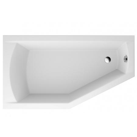 Polimat Selena Wanna narożna asymetryczna 160x90 cm, wersja lewa, biała 00953