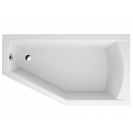 Polimat Selena Wanna narożna asymetryczna 160x90 cm, wersja prawa, biała 00951