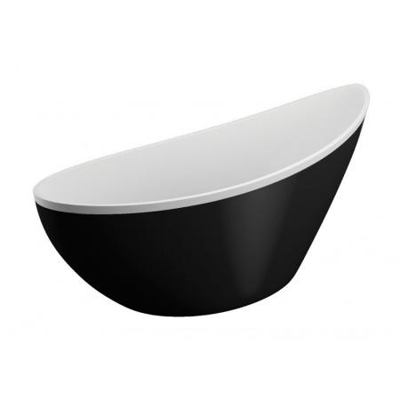 Polimat Zoe Wanna wolnostojąca 180x80 cm, biała/czarna 00257