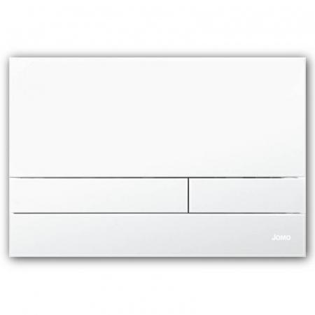 Jomo Exclusive 2.1 Przycisk spłukujący do WC, biały matowy/biały 167-37001180-00