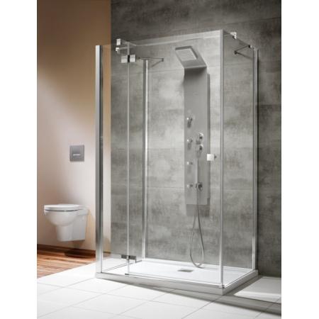 Radaway Almatea Ścianka prysznicowa 90x195 cm wersja prawa, profile chrom szkło przejrzyste z powłoką EasyClean 31522-01-01R2