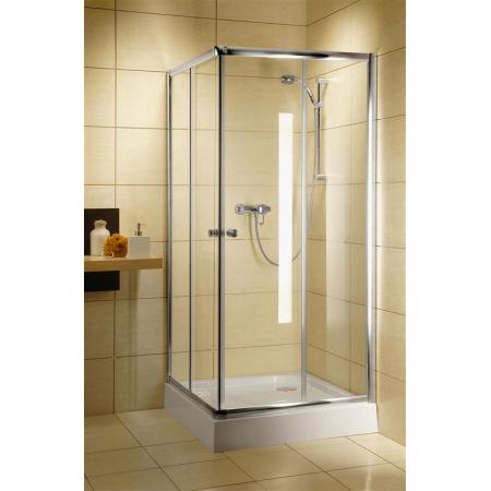 Radaway Classic C Kabina prysznicowa 80x80x185 cm, profile białe, szkło przejrzyste 30060-04-01