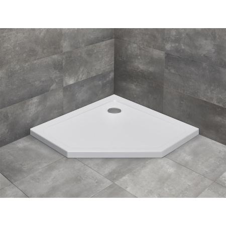 Radaway Doros PT Brodzik pięciokątny 90x90 cm, biały SDRPT9090-01