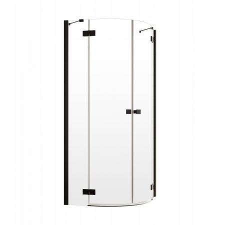 Radaway Essenza New Black PDD Drzwi prysznicowe uchylne 80x200 cm prawe profile czarne szkło przezroczyste 385002-54-01R