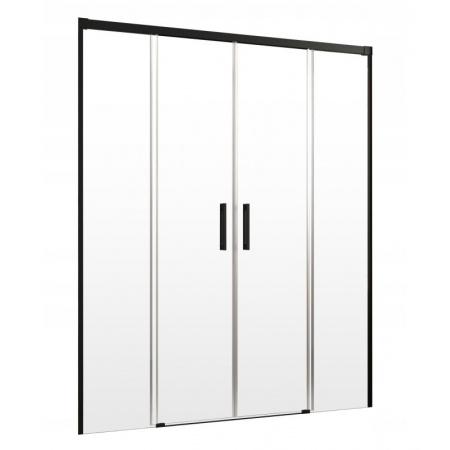 Radaway Idea Black DWD Drzwi prysznicowe przesuwne wnękowe 160x200,5 cm profile czarne szkło przezroczyste 387126-54-01