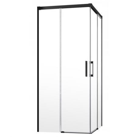 Radaway Idea Black KDD Drzwi prysznicowe przesuwne 100x200,5 cm lewe profile czarne szkło przezroczyste 387062-54-01L